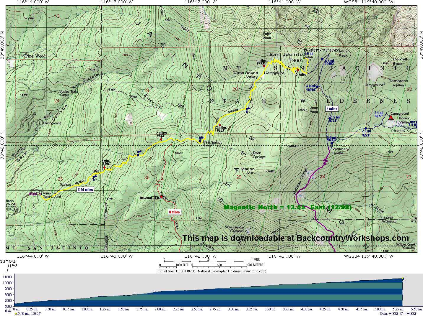 san jacinto trail map with Marion Mountain Trail on Goliad Area Historic Sites besides Palm Canyon Trail To The Stone Pools together with War of 1812 further Mount San Jacinto Peak likewise Low Snow Hiking Around Mount Shasta.